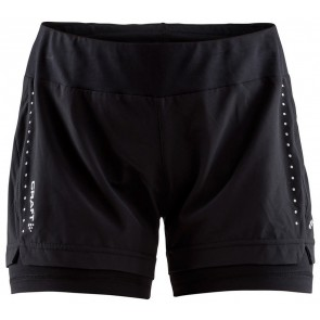 Craft Essential 2-In-1 Shorts Dames Zwart
