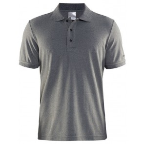 Craft Polo Shirt Pique Classic Men Donkergrijs