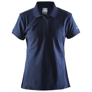 Craft Polo Shirt Pique Classic Women Marineblauw