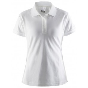 Craft Polo Shirt Pique Classic Women Wit
