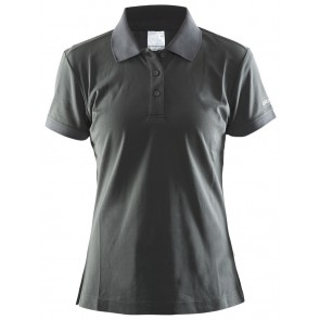 Craft Polo Shirt Pique Classic Women Grijs