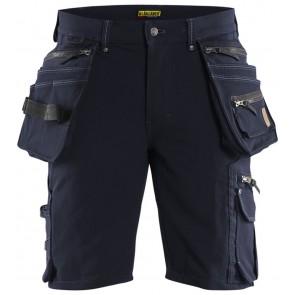 Blåkläder 1988-1644 Korte broek Stretch Marineblauw/Zwart