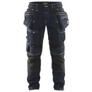 Blåkläder 1990-1141 Werbroek Denim Stretch X1900 Marineblauw/Zwart