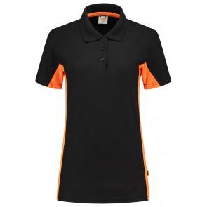 Tricorp 202003 Poloshirt Bicolor Dames Zwart/Oranje