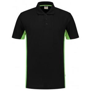 Tricorp 202004 Poloshirt Bicolor Zwart/Lime