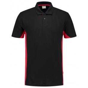 Tricorp 202004 Poloshirt Bicolor Zwart/Rood