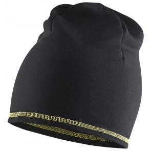 Blåkläder 2023-2532 Power beanie Zwart/Geel maat onesize