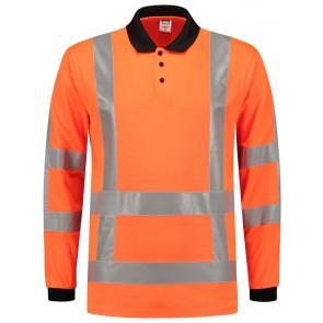 Tricorp 203005 Poloshirt RWS Birdseye Lange Mouw Fluor Oranje