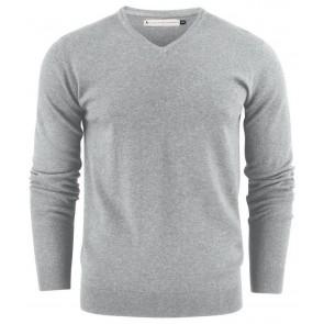 Harvest Ashland V-Neck Sweater Heren Grijs Melée