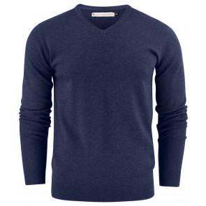 Harvest Ashland V-Neck Sweater Heren Blauw Melée