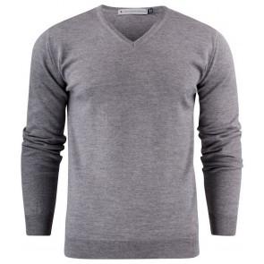 Harvest Westmore Merino Pullover Sweater Heren Grijs Melée