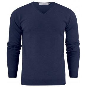 Harvest Westmore Merino Pullover Sweater Heren Marineblauw