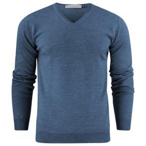 Harvest Westmore Merino Pullover Sweater Heren Petroleum Melée