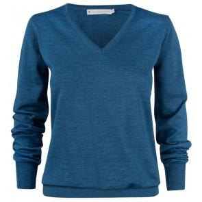 Harvest Westmore Merindo Pullover Sweater Dames Petroleumblauw Melée