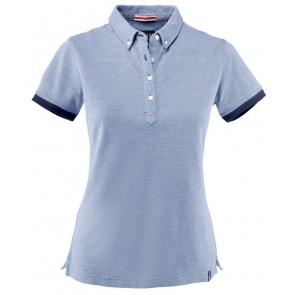 Harvest Larkford Poloshirt Dames Lichtblauw Melée