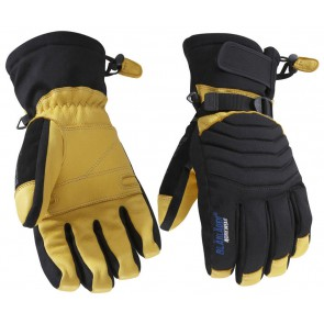 Blåkläder 2238 Gevoerde Handschoen Ambacht Zwart/Geel