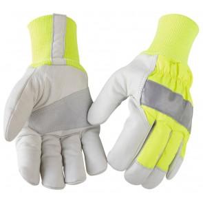 Blåkläder 2240 Gevoerde Handschoen Ambacht High Vis Geel/Grijs
