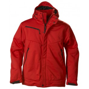 Printer Skeleton Softshell Jacket Heren Rood