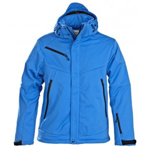 Printer Skeleton Softshell Jacket Heren Oceaanblauw