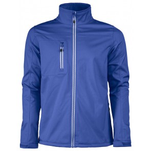 Printer Vert Softshell Jas Heren Blauw