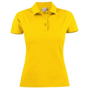 Printer Surf Poloshirt Dames Citroengeel