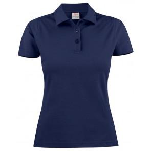 Printer Surf Poloshirt Dames Marineblauw