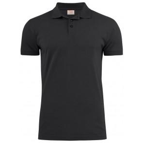 Printer Surf Stretch Poloshirt Heren Zwart