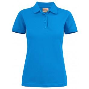 Printer Surf Stretch Poloshirt Dames Oceaanblauw
