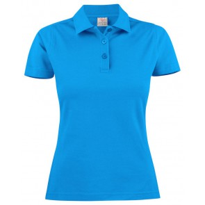 Printer Surf Light Poloshirt Dames Oceaanblauw
