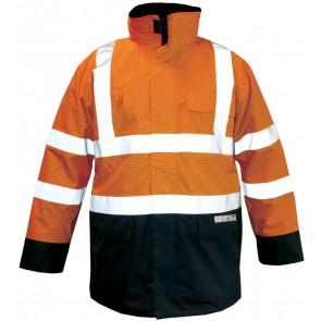 M-Wear Premium parka FR-AST 2664 Magoma fluo oranje/marineblauw