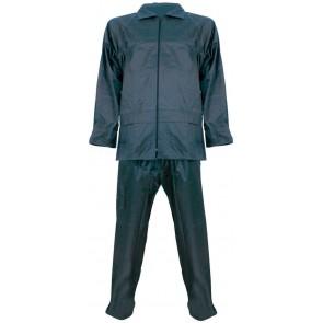 Regenpak polyester/PVC 2-delig marineblauw