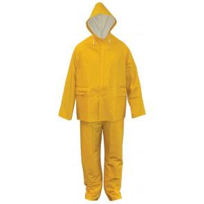 PVC Rayon 2-delig regenpak geel