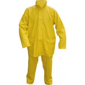 PU stretch regenpak 2-delig geel