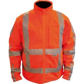 M-Wear softshell jack jas 1316 RWS fluo oranje