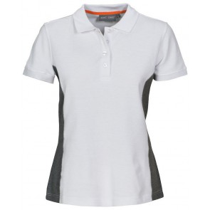 Macone Selma Poloshirt Dames Wit/Grijs Melée