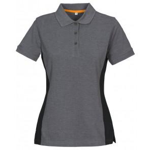 Macone Selma Poloshirt Dames Grijs Melée/Zwart