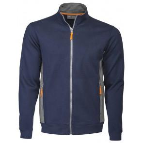 Macone Blake Full Zip Sweater Unisex Marineblauw/Grijs Melée