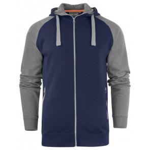 Macone Chris Hoodie Sweater Unisex Marineblauw/Grijs Melée