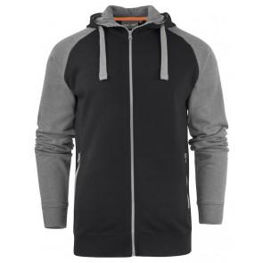 Macone Chris Hoodie Sweater Unisex Zwart Melée/Grijs Melée