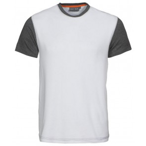 Macone Joey T-Shirt Unisex Wit/Grijs Melée