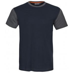 Macone Joey T-Shirt Unisex Marineblauw/Grijs Melée
