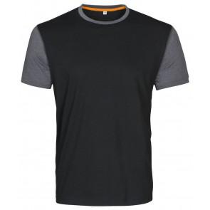 Macone Joey T-Shirt Unisex Zwart Melée/Grijs Melée
