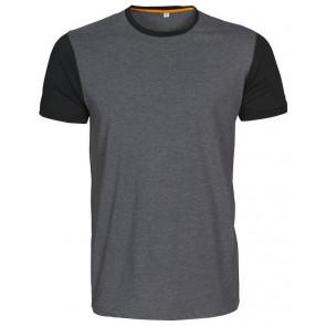 Macone Joey T-Shirt Unisex Grijs Melée/Zwart