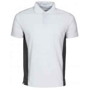 Macone Ture Poloshirt Heren Wit/Grijs Melée