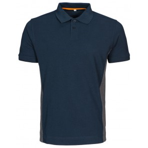 Macone Ture Poloshirt Heren Marineblauw/Grijs Melée