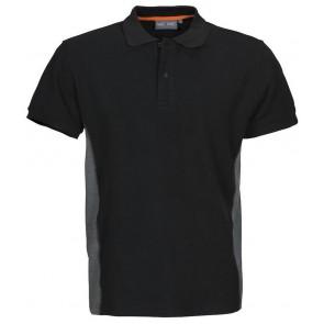 Macone Ture Poloshirt Heren Zwart Melée/Grijs Melée