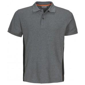Macone Ture Poloshirt Heren Grijs Melée/Zwart