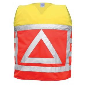 M-Wear verkeersregelaarsvest 0125 fluo oranje/fluo geel