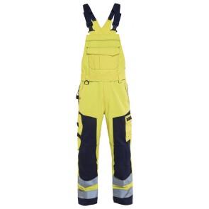 Blåkläder 2608-1514 Multinorm bretelbroek Geel/Marineblauw