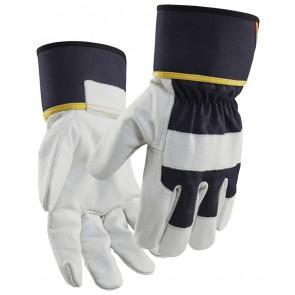 Blåkläder 2841-1462 Lederen handschoen Dark navy/White